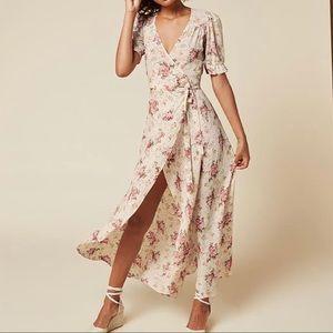 Reformation floral maxi dress